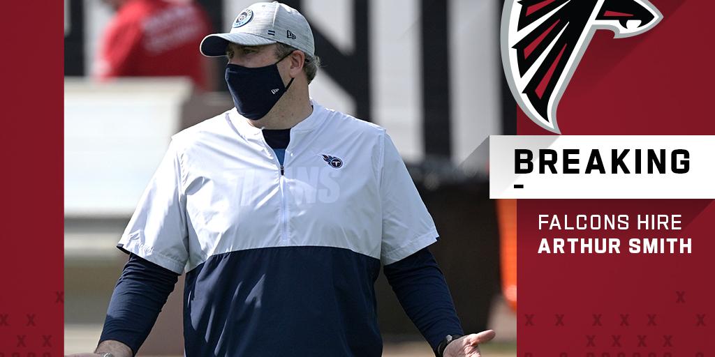 Falcons hire Arthur Smith as new head coach.