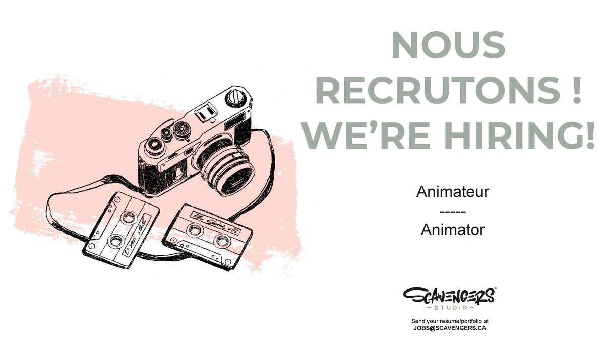 Do you have a passion for making beautiful things come to life? We are hiring an Animator! Come join a caring and creative team on an adventure to bring characters to life! scavengers.ca/animator/