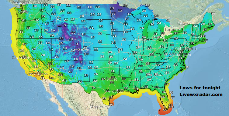Low for tonight.        Checkout  your Temps and Weather at             #wx #weather #cold# colder #cooling #flooding  #nice    #rain #storm #temps  #Freezing  #lows #usa #nws #news #heat   #Saturday  #night #weekend  #lockdown