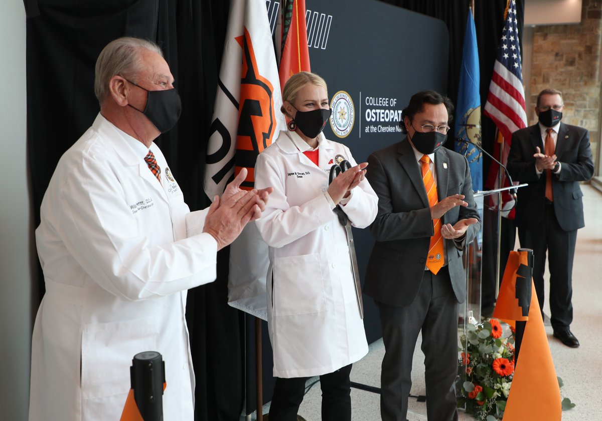The first tribally affiliated medical school on tribal land in the U.S., the OSU College of Osteopathic Medicine at Cherokee Nation, opened today. The $40M, 84,000 SF facility will help train students, including Natives, to practice medicine in rural Okla. and in tribal nations.