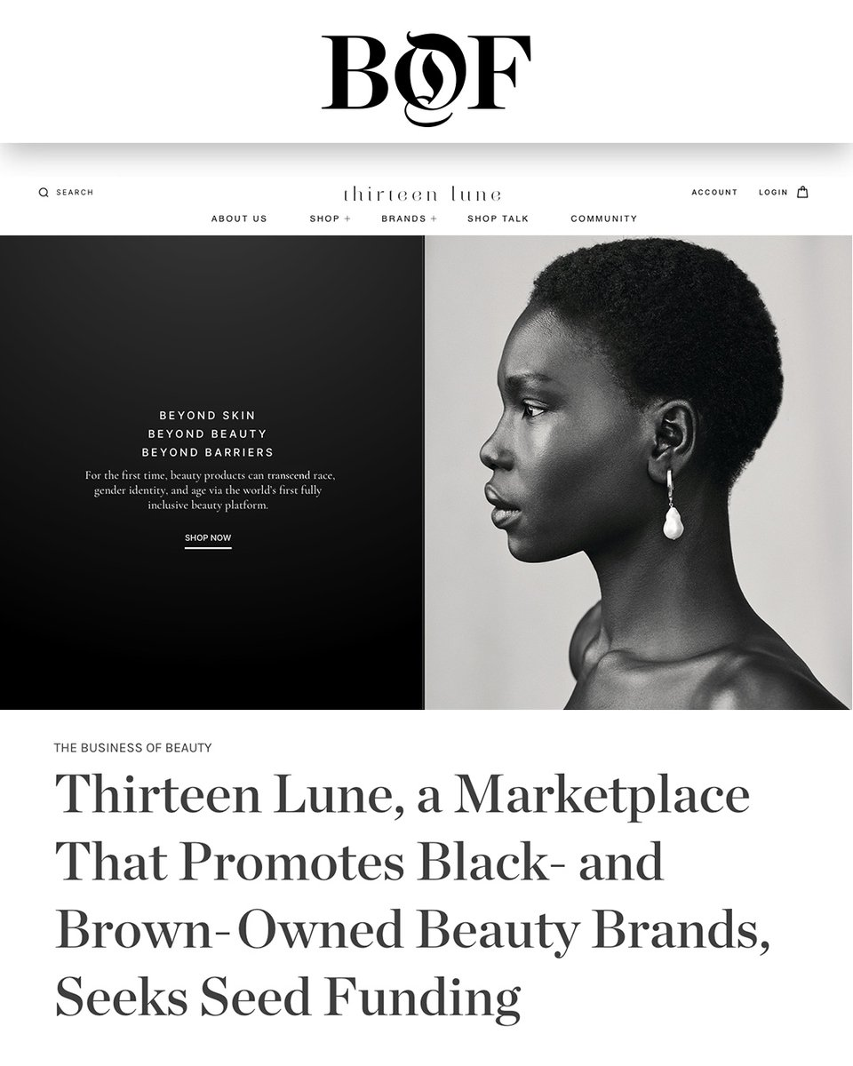 Excited to announce our seed round after a successful friends and family raise of $1M to keep building the #thirteenlune platform to support more Black and Brown beauty founders. Thanks to incredible investors like @Diddy who shares our vision.
