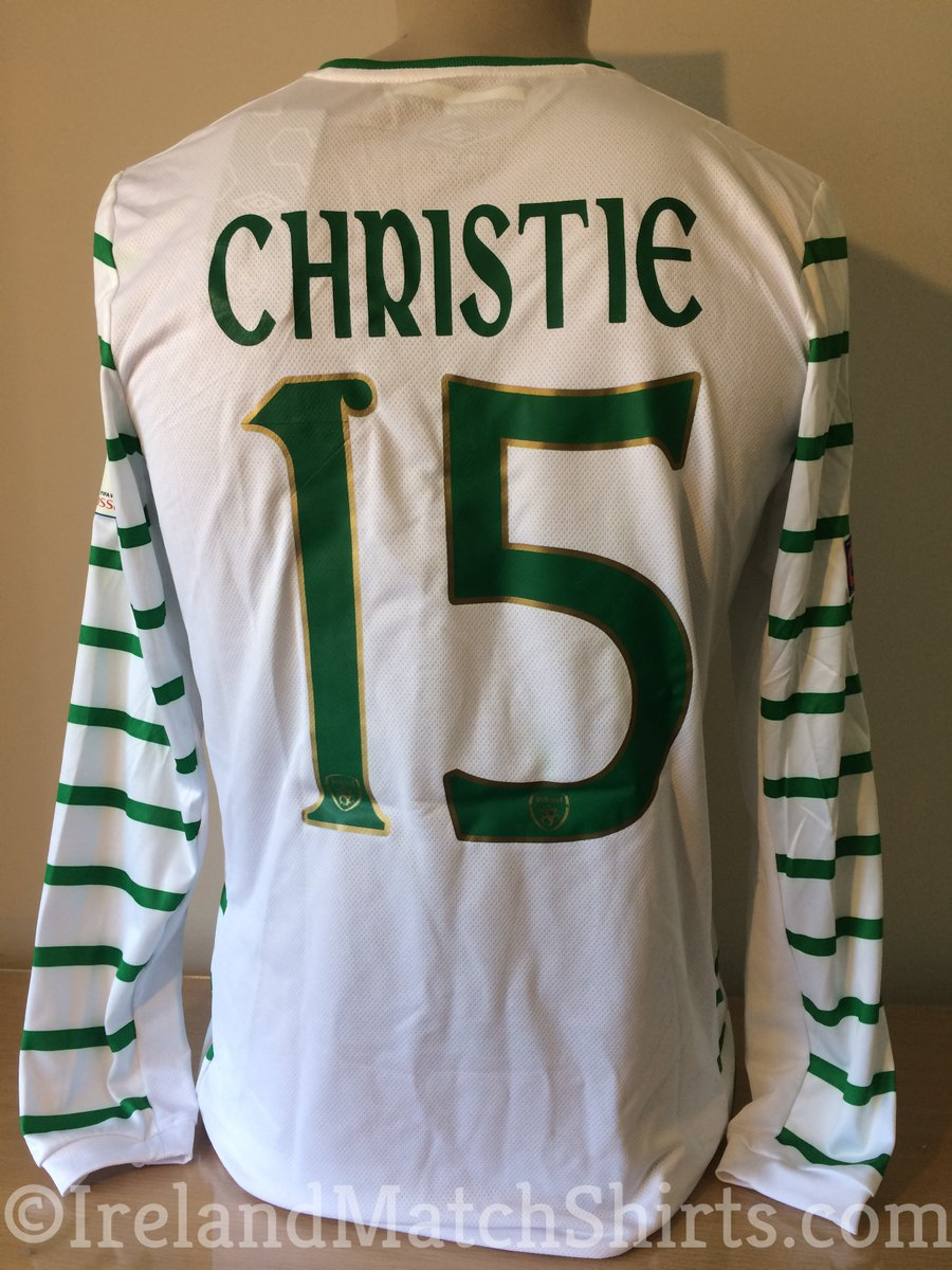 Just updated the site with @cyruschristie 's spare @FAIreland jersey from the 2-2 draw with Serbia in Sept 2016. I've got to be honest, I'm not a huge fan of this style of kit - those stripes on the sleeves don't quite do it for me! #COYBIG #matchworn