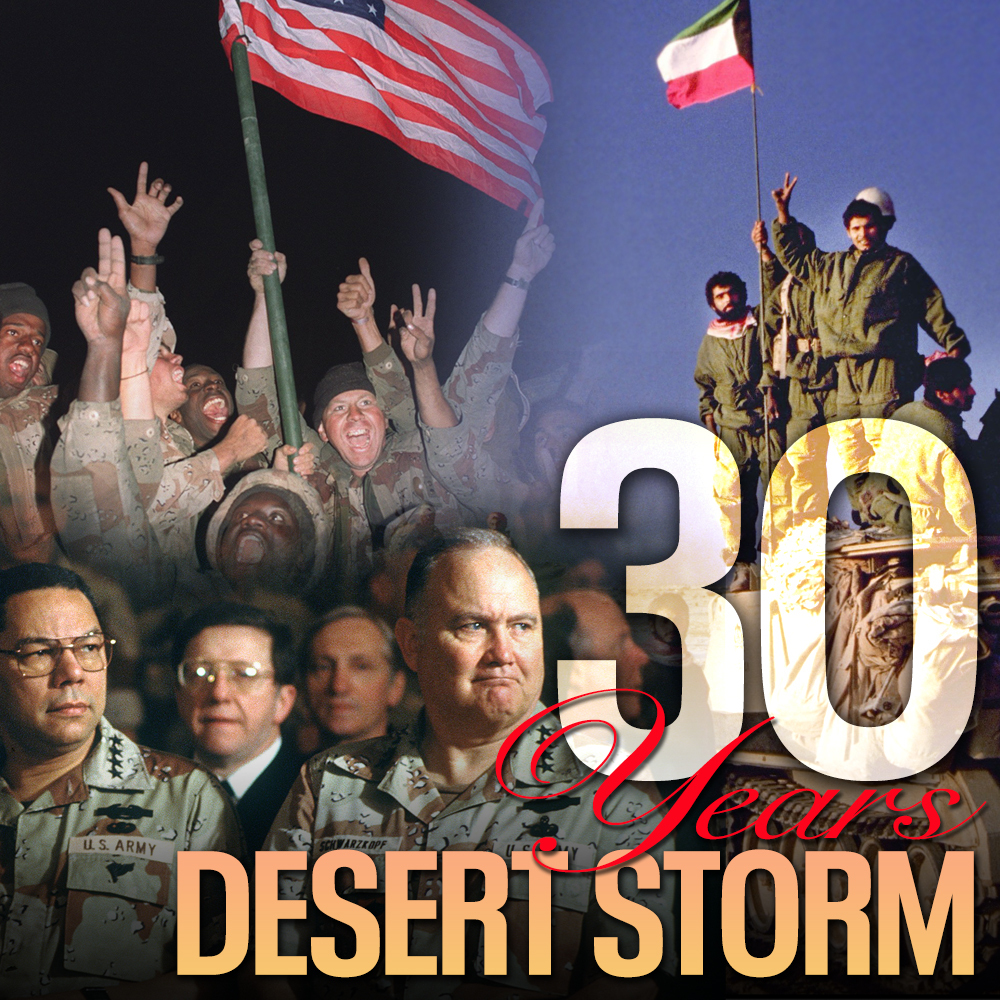 ON THIS DAY: It's been 30 years since the start of Operation Desert Storm, which ended with the liberation of Kuwait. 🇺🇸🇰🇼
