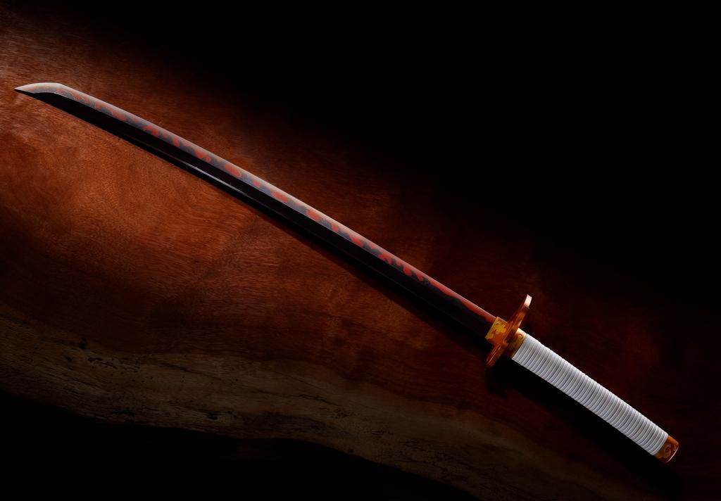 """New Pre-Order!!! Nichirin Sword(Kyojuro Rengoku) """"Demon Slayer"""", Bandai Spirits Proplica  Order Now:   #poopoopanda #tanjiro #nezuko #cosplay #bandaispirits #tamashiinations #demonslayer #proplica #nichirinsword #kyojurorengoku @bluefinbrands"""