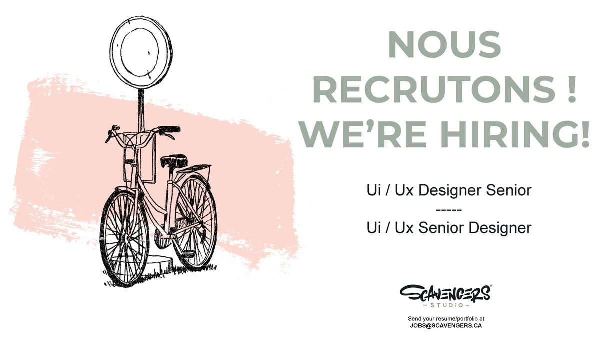 Calling all Ui / Ux Designers! Are you ready for a new challenge? You could be the one we are looking for to lead us into a new age of beautiful Ui and Ux designs! Join our team as our Senior Ui / Us Designer! scavengers.ca/senior-ui-ux-d…
