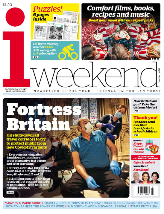 "Weekend's i: ""Fortress Britain"" #BBCPapers #TomorrowsPapersToday"