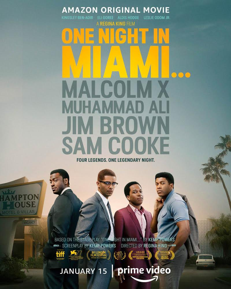 I saw #OneNightInMiami and it's GREAT!! You've got to watch it on @PrimeVideo TODAY!! @ONIMfilm