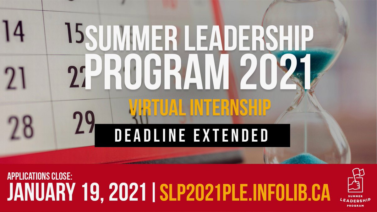 We've extended the deadline for applications for our Summer Leadership Program! If you're a young leader who's looking to make a difference, you now have until Tuesday, January 19th to apply. Click here to learn more and submit an application: