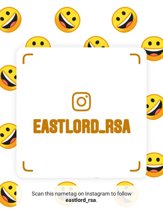 Follow me on Instagram! Username: eastlord_rsa