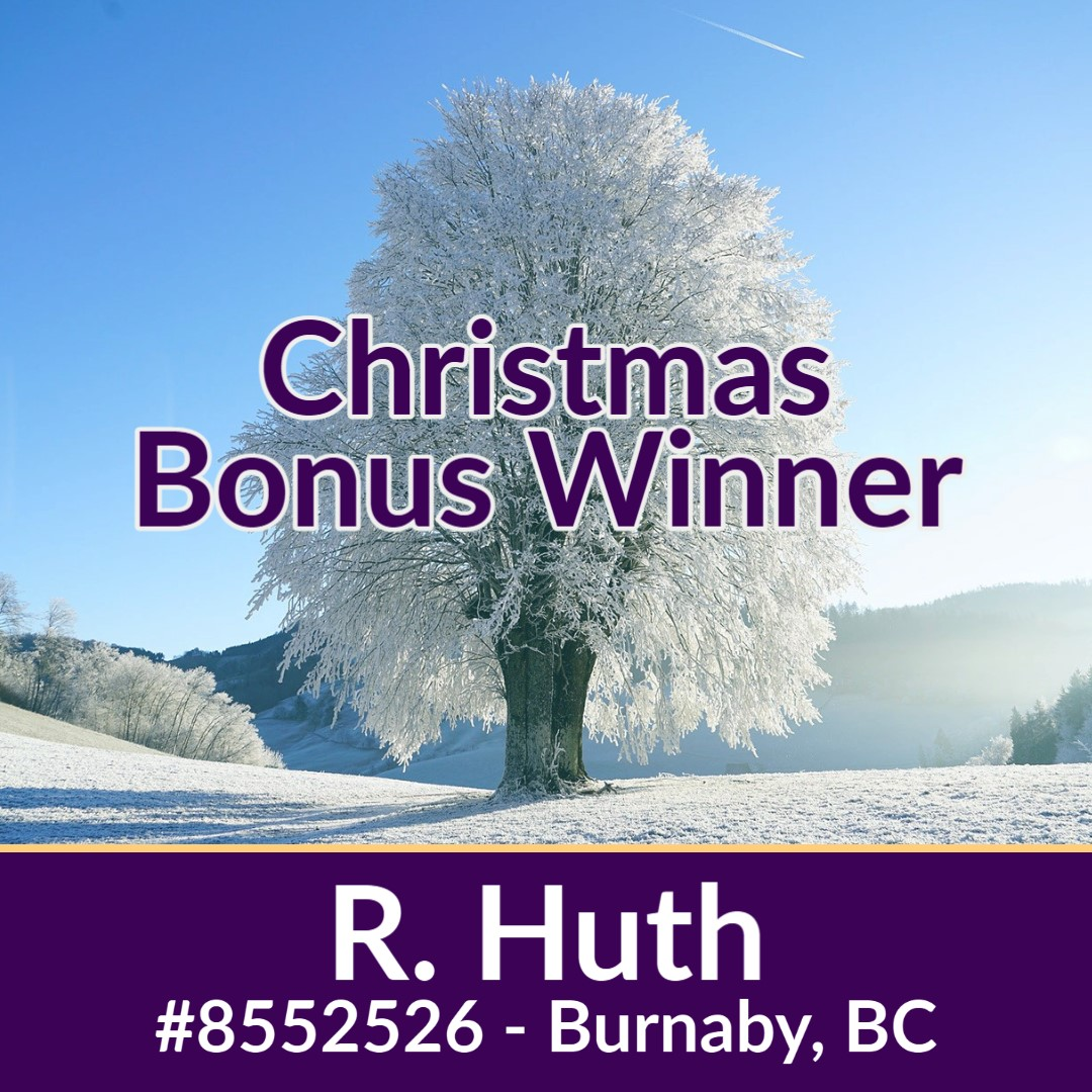And, congratulations to R. Huth of Burnaby, BC!! They've won our Christmas Bonus draw which features a choice between $40k in travel, a brand new Honda Accord, or $33,000 cash!!   >>    #merrychristmas #christmas #vgh #vghmillionaire #xmas