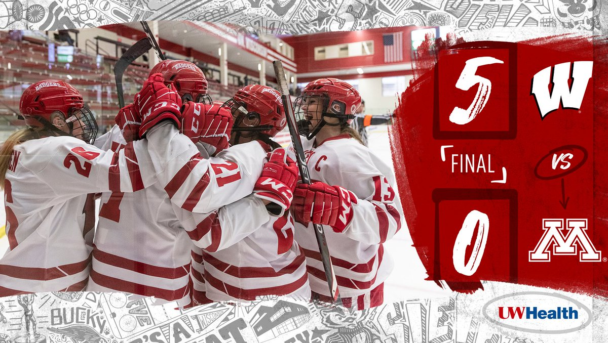 Battle. Tested. 👊  #Badgers with the statement shutout against the Golden Gophers  #OnWisconsin || #UWHealth