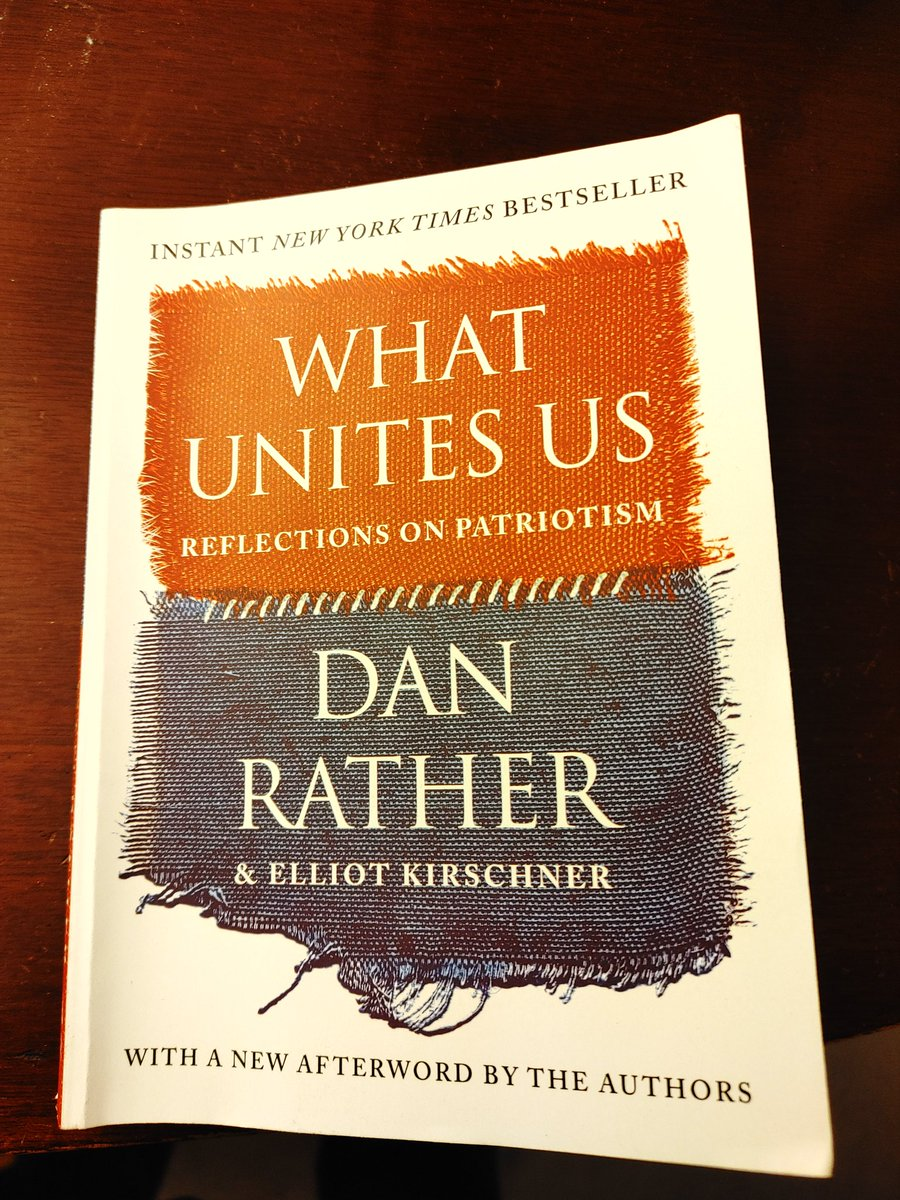 Just finished What Unites Us and truly enjoyed it. Feeling inspired to learn as much as I possibly can about American history. Thank you @DanRather 🙏