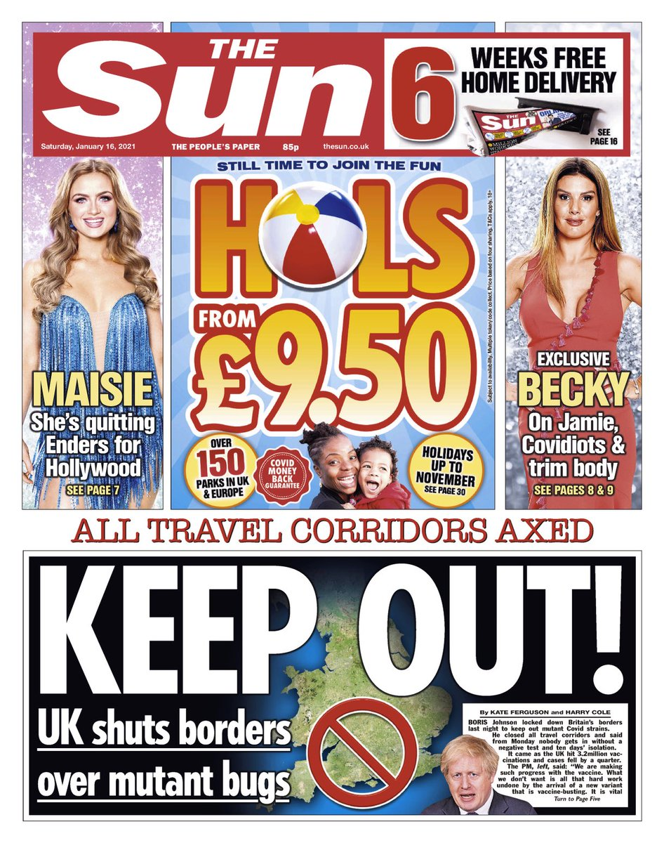 THE SUN: Keep Out! #TomorrowsPapersToday