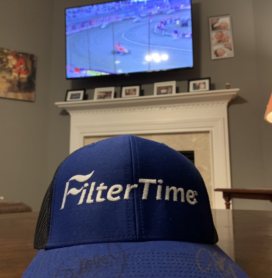 Excited to cheer on @J_Allgaier in tonight's Driven2SaveLives qualifying!!! And of corse I am supporting @FilterTime while watching!