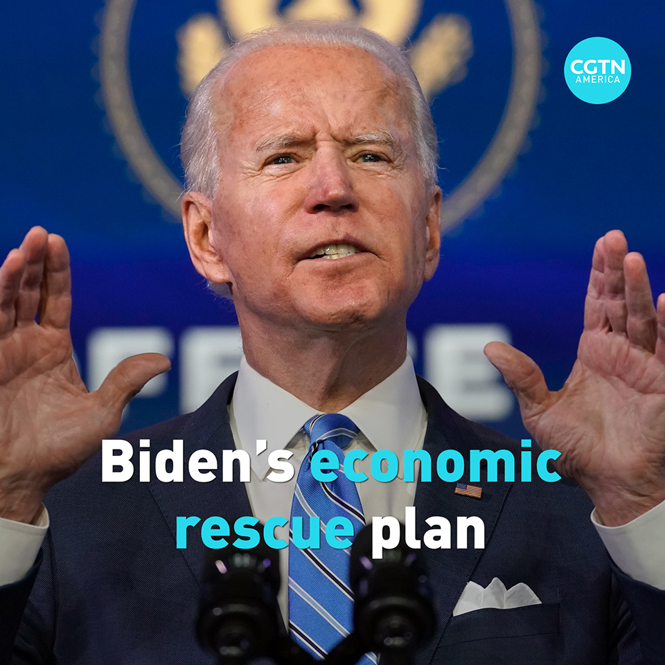 In the U.S. President-elect Joe Biden's $1.9 trillion economic rescue plan, he calls for sending additional $1,400 per person to eligible recipients and investing $20 billion in a national program to increase vaccinated population.