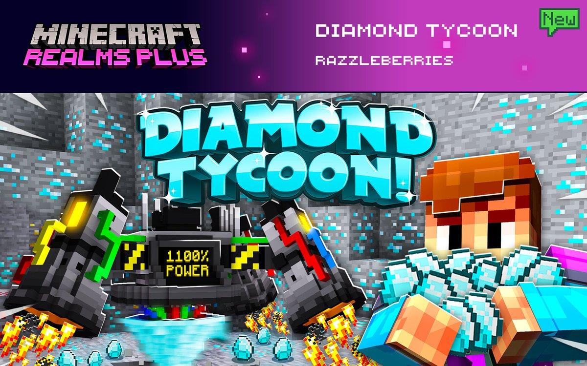 。   o     ○ ╭◜◝  ͡  ◜  ͡  ◜◝ ◜  ͡  ◝ ◜ ╮  (                💎                     )     ╰◟◞  ͜  ◟◞◟◞  ͜  ◟◞  ͜  ◞ ╯  Mine for diamonds until your heart's content in Diamond Tycoon by @RazzleberriesAB. Now in Realms Plus!