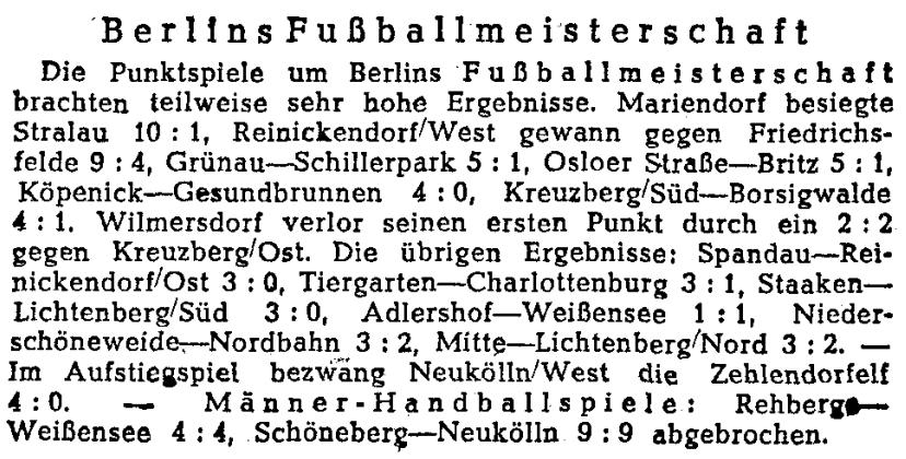 Zurück zum Sport. @Tagesspiegel #OTD 1946 #Tagesspiegel75