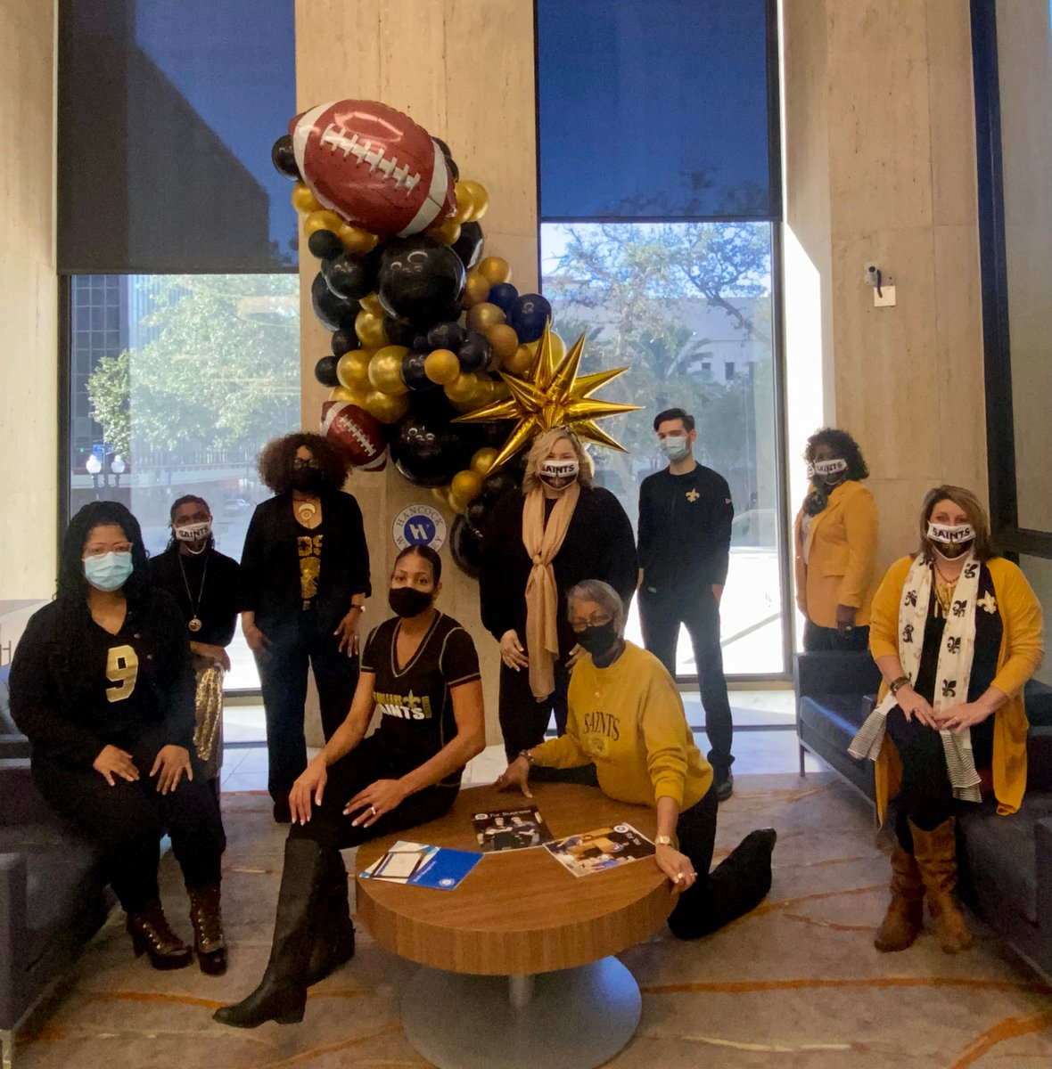It's another #BlackandGoldFriday, and our associates sure know how to cheer on the New Orleans Saints! We'll be rooting for you this weekend in the playoffs! https://t.co/KK4aeIgZ0D