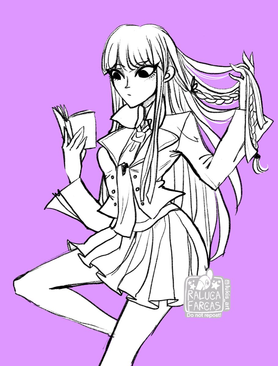 You voted for Kyoko, so here she is! #kyokokirigiri #danganronpa #danganronpafanart #triggerhappyhavoc #drthh