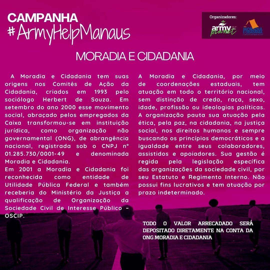 Replying to @ARMY_HTP: Conheça a ONG parceira: Moradia e Cidadania.   Site: