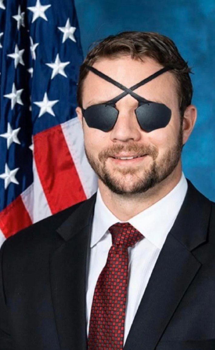 @thehill #cdnpoli #USPolitics #DanCrenshaw acts like he's completely  #blind  A depiction of how Dan Crenshaw researches his talking points: .