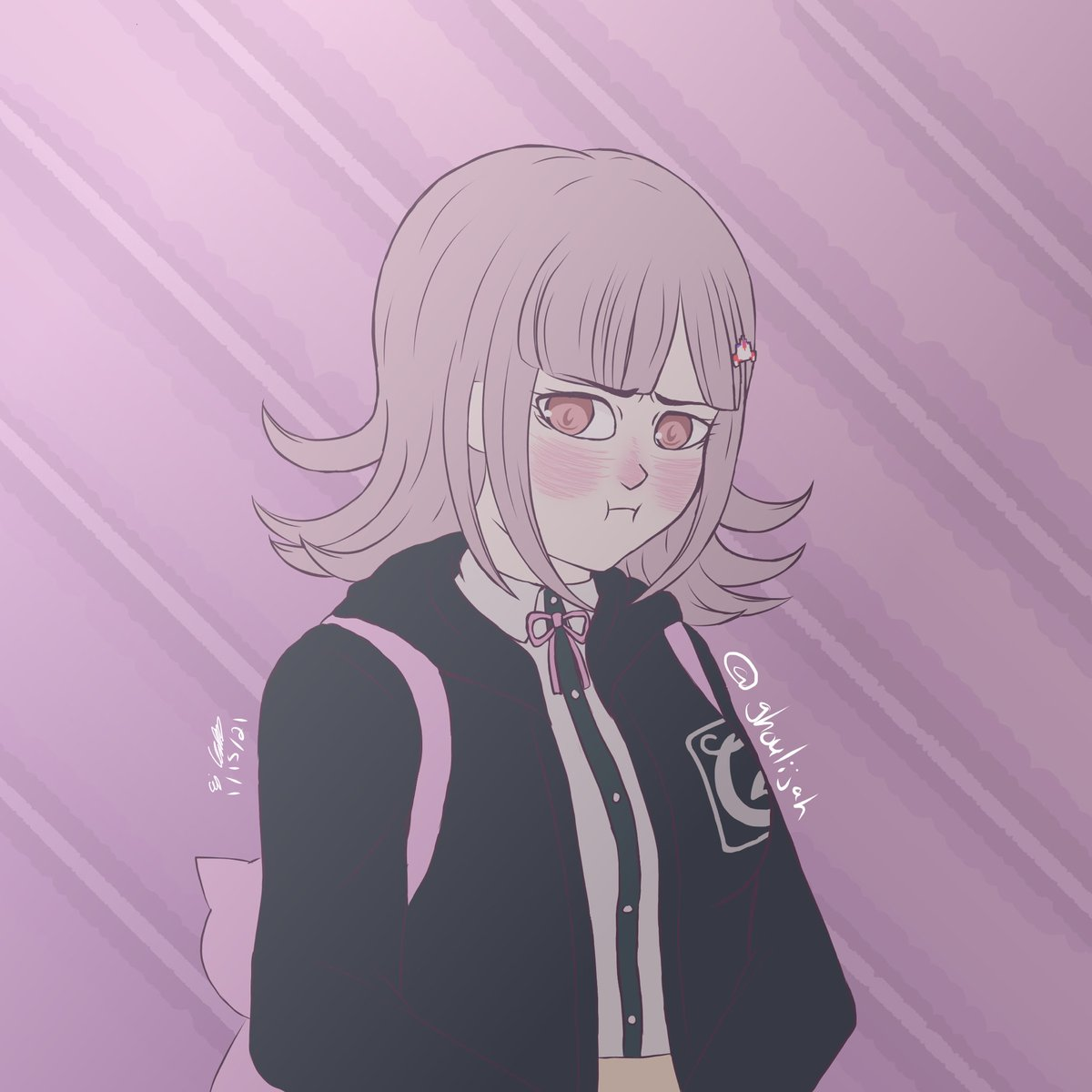 Might've (rage quit) drawn the best and cutest gamer girl out there, Chiaki Nanami #fanart #danganronpa
