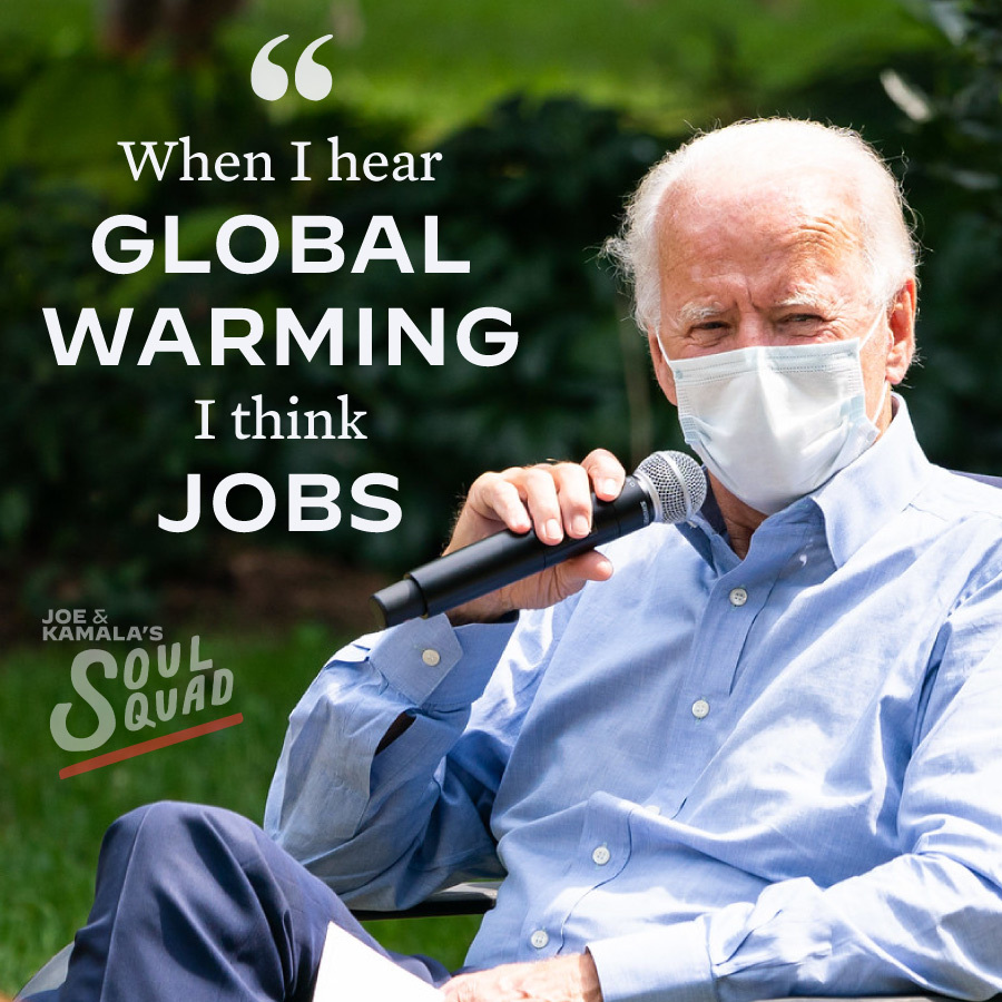 #WeKnowJoe  Joe's admin WILL: - Rejoin the #ParisAgreement on DAY 1 - Invest in Clean Energy Jobs - Champion Environmental Justice  Joe knows that #ClimateChange is REAL and action has to be taken IMMEDIATELY: