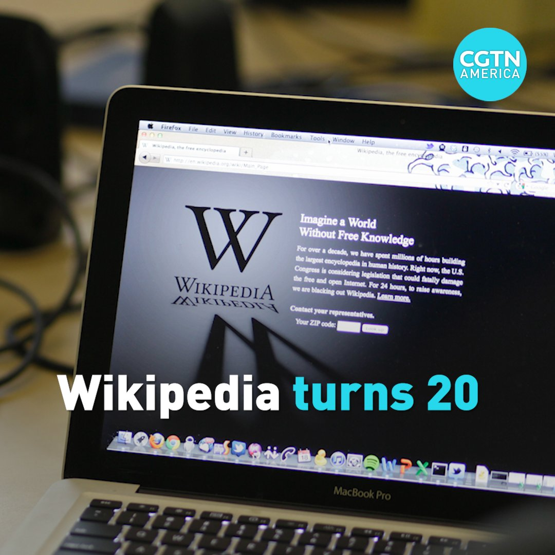 Wikipedia turned 20-years-old on January 15th. The non-commercial site has 1.7 billion unique visitors a month, The Guardian reports, making it the 13th most popular website on the internet.
