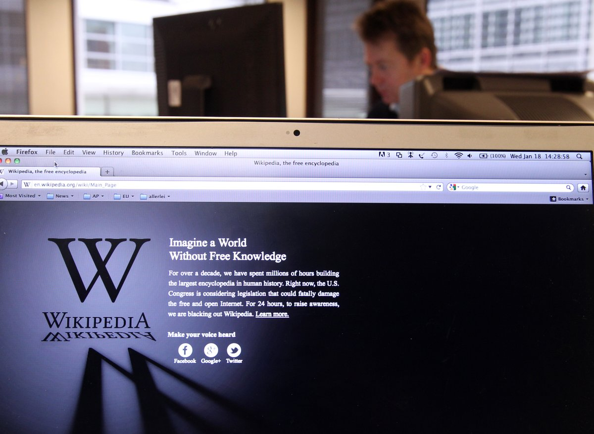 Wikipedia now has more than 55 million articles in 300 languages, on more than 18,000 topics. #wikpedia #wikipedia20