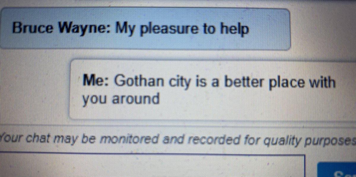 O Batman resolveu o problema. Gratidão ao homem morcego