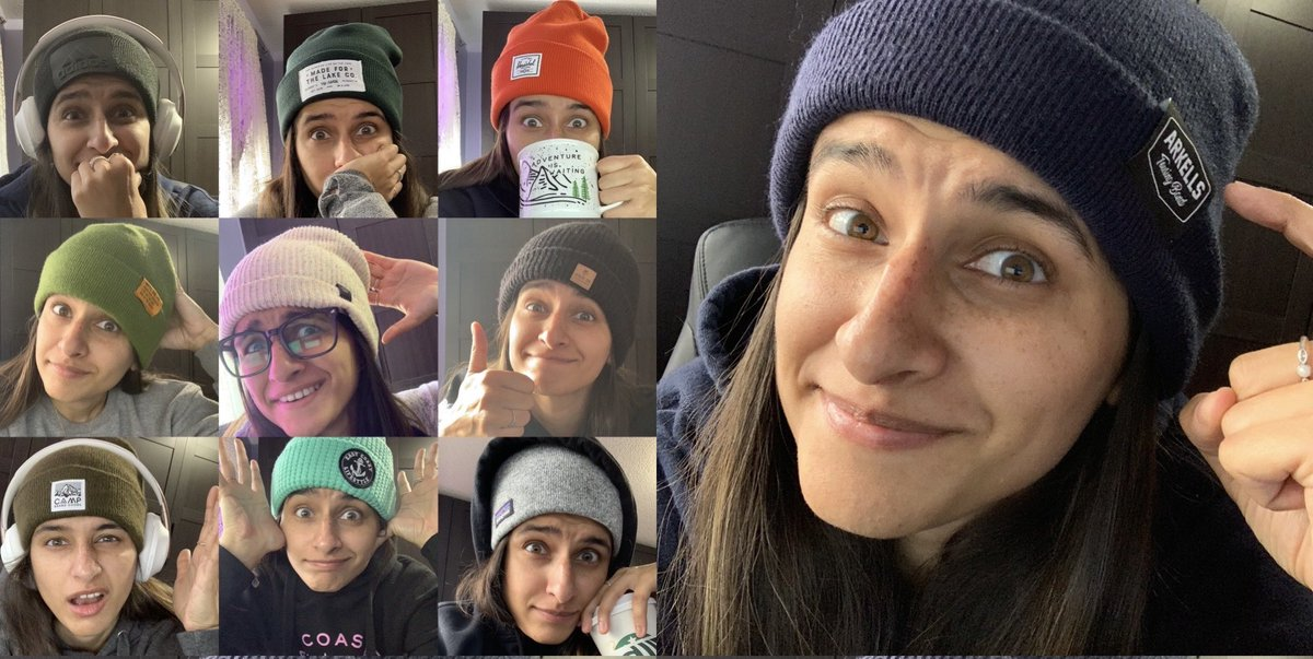 Today is NATIONAL HAT DAY!  I've spent every day of the last 2 weeks online, in preparation for this day. Today, students finally noticed 😂. Fairly certain I have enough hats to finish the rest of the semester👍🏽 Stay tuned!  #teachinginapandemic #gottakeepitfun #NationalHatDay