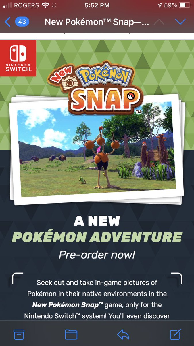 OKAY ITS FINALLY HAPPENING #pokemon #PokemonSnap