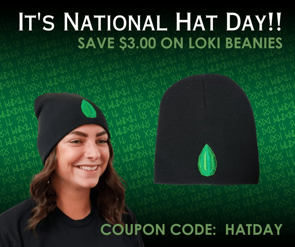 It's National Hat Day! Save $3 OFF all our beanies today only. Use coupon code: HATDAY at checkout.  #NationalHatDay