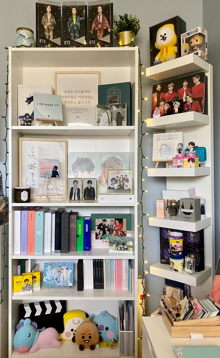 Replying to @joonskosmos: After almost 4 years of stanning, I finally have the BTS bookshelf of my dreams 💜 @BTS_twt