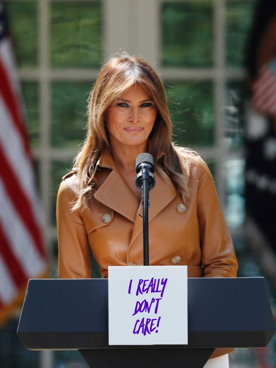 This is what she really means. @FLOTUS #atrumpwillbeatrump #BeGone #BeBest #impeachedagain #Deplorable