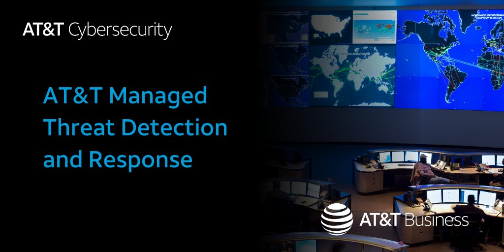 ✔️ 24x7 proactive #security monitoring ✔️ Built on Unified Security Management (USM) platform ✔️ Powered by AT&T Alien Labs threat intelligence  That's #ATT Managed Threat Detection and Response.  Learn more: https://t.co/EZnki6KXgR https://t.co/j7ABihWB1R