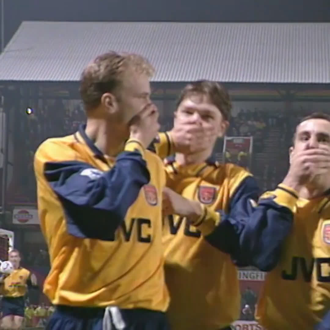 Dennis 🤭 Bergkamp 🤭 scored 🤭 this 🤭 goal 🤭 24 🤭 years 🤭 ago 🤭 today 🤭  #EmiratesFACup @Arsenal