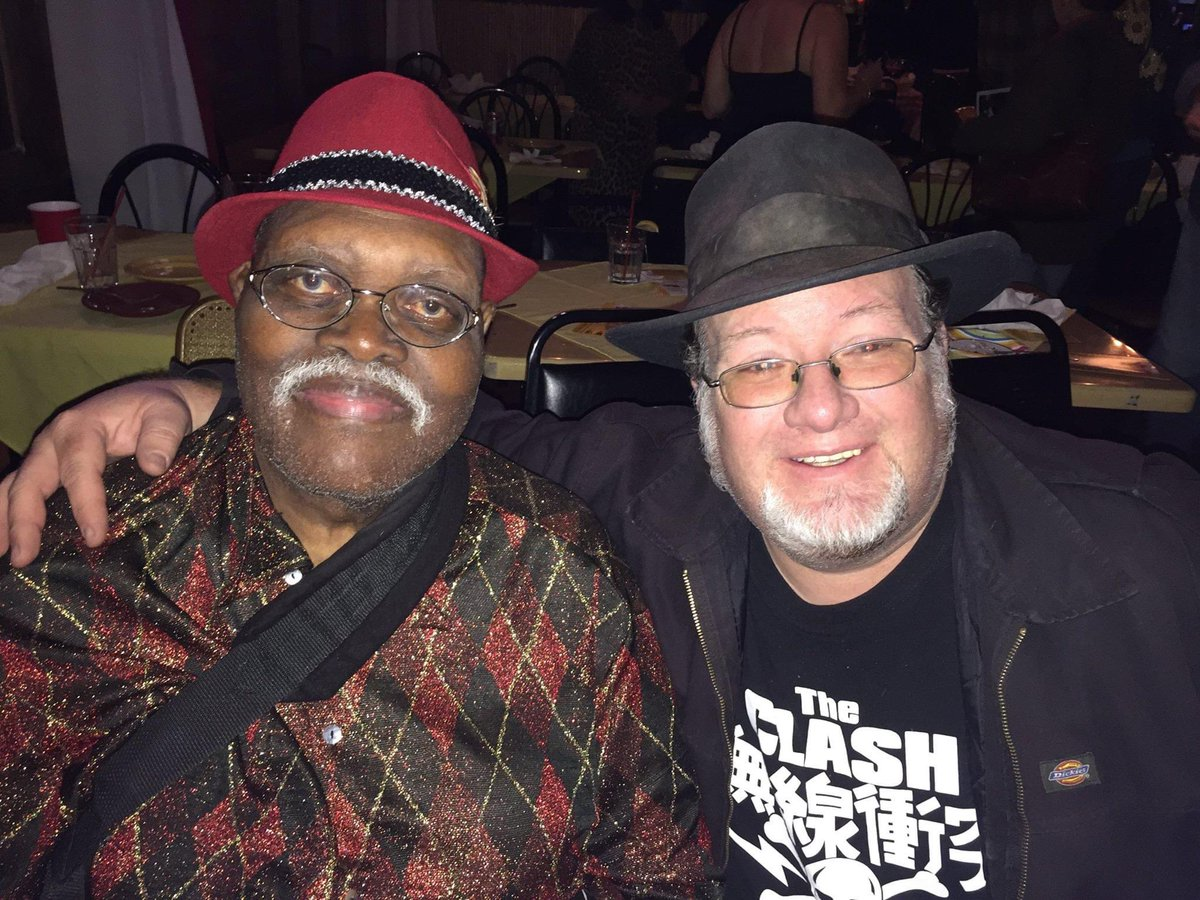 @DHSoto Big Jay McNeely and I sporting our hats! #NationalHatDay