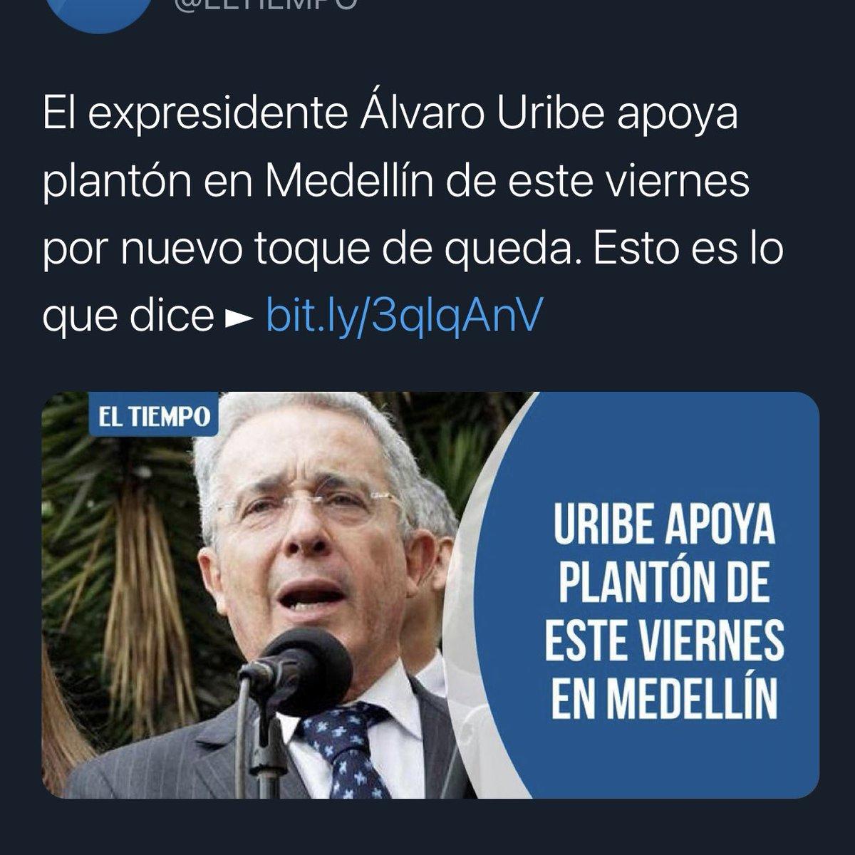 Hoy es el día con más casos de coronavirus en Colombia. Vivimos tiempos difíciles que requieren  decisiones difíciles. Expresidente Uribe le exijo responsabilidad. No haga política con la vida. Pídale a sus manifestantes que desbloqueen la Avenida San Juan.