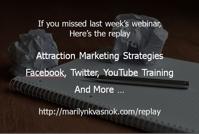 marketing #SocialMedia FreeWebinar   Did you miss Wednesday's free webinar?  Here's last week's replay ...