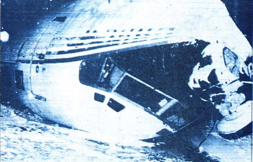 #OTD in 1983: Turkish Airlines Flight 158, a B-727, crashes on approach to Ankara (Turkey), 47 of 67 aboard die. Jet was to land on snowy weather when it lost height, apparently due to downdrafts and wind shear. Airplane impacted the ground just 50m/164 ft from runway.