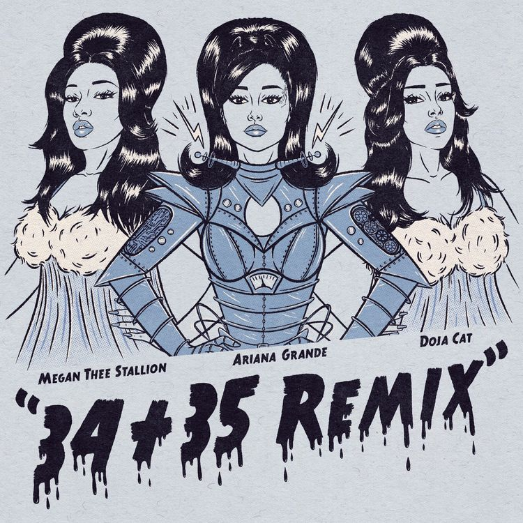 #NowTrending📈  @ArianaGrande taps @DojaCat & @theestallion for the #3435REMIX, available for streaming on the #Audiomack app.   LISTEN: