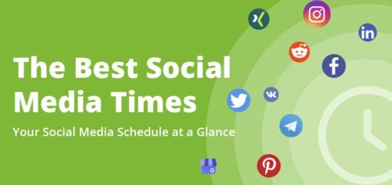 The Best Times to Post Your Social Media Updates in 2021 [Infographic]  via @socialmedia2day #socialmedia