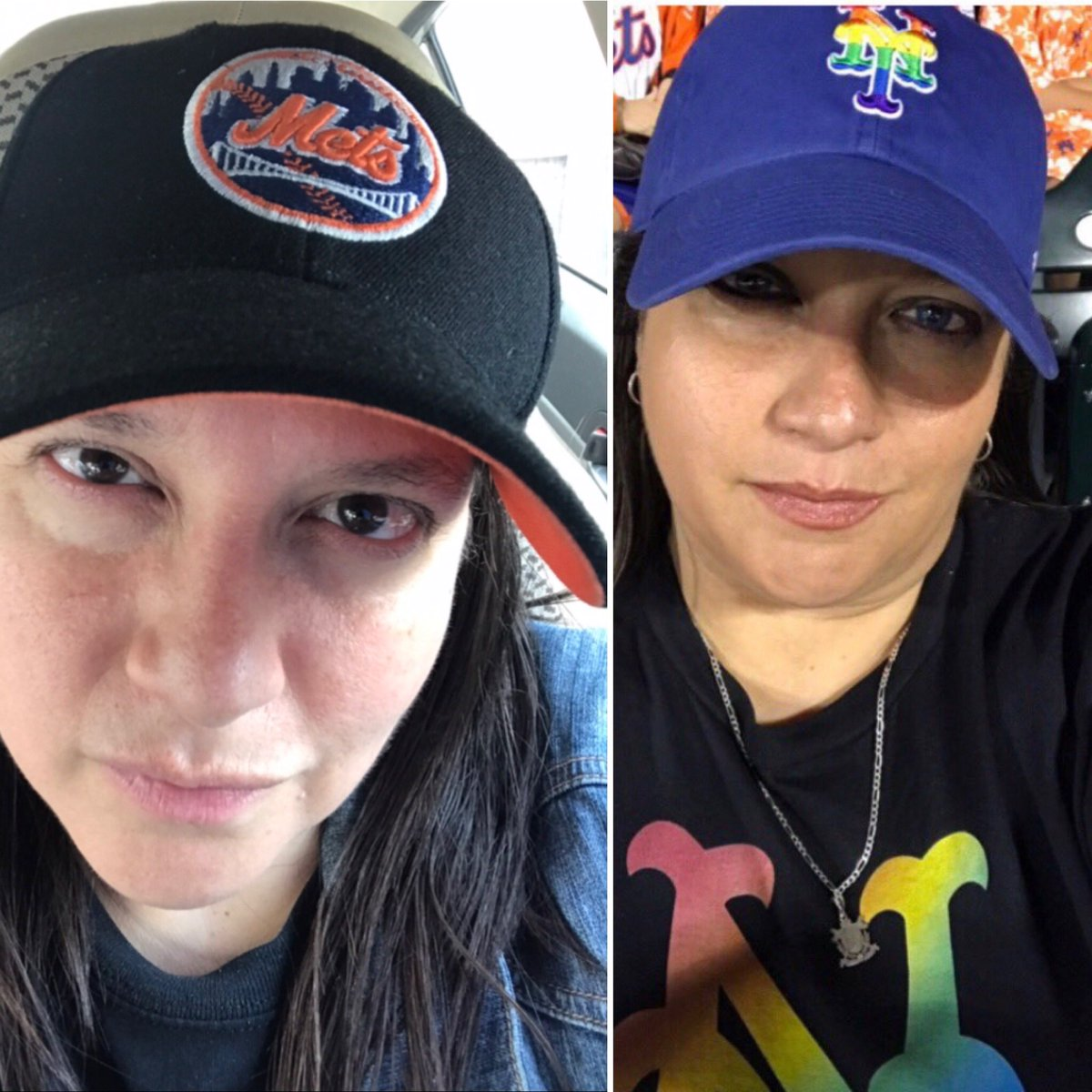 @Mets #NationalHatDay  #LGM  🧡⚾️💙 These are my 2 favorite #Mets hats.