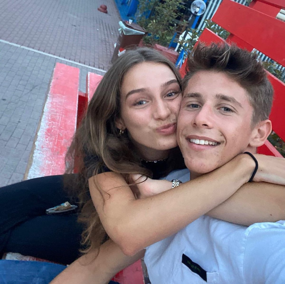 Cuties🥰  @arthur_leclerc7 and his girlfriend, Carla❤  #ArthurLeclerc #F3 #PremaRacing #RoadToF1 #FerrariDriverAcademy #FDA #EssereFerrari🔴
