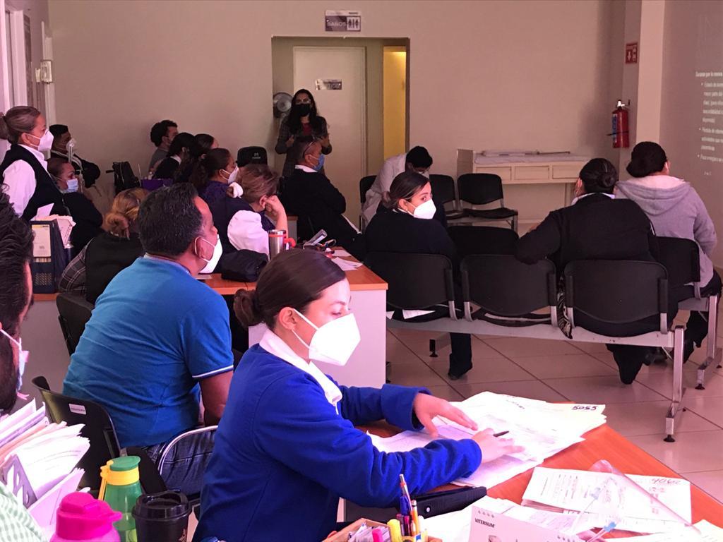 Imparticion de plática  en el Centro de Salud Urbano de Guaymas Norte sobre