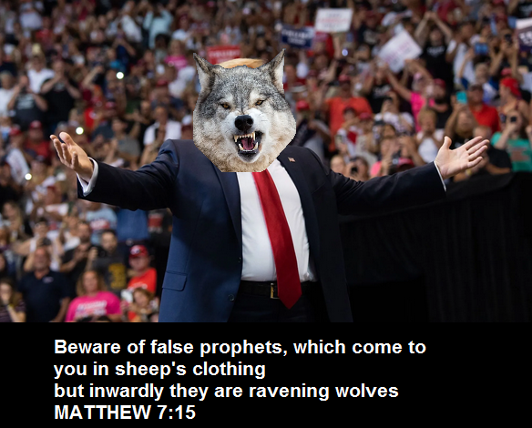 @kayleighmcenany Beware of false prophets, which come to you in sheep's clothing, but inwardly they are ravening wolves  Matthew 7:15 #Traitors  #TraitorsSupportTraitorTrump #TraitorsToDemocracy  #TraitorsGettingFired  #TrumpTreason  #ImpeachTrumpNow