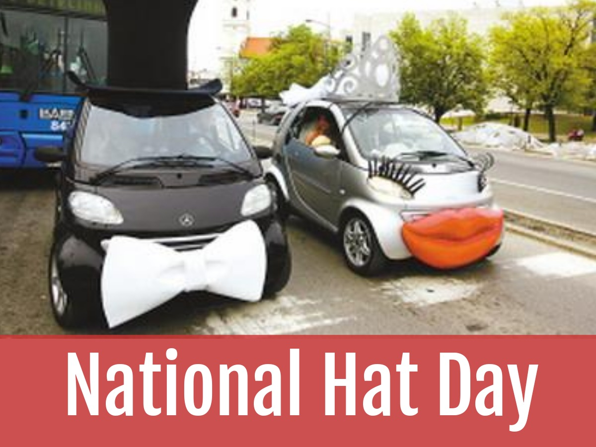 Happy national hat day! Who said cars can't have hats? #NationalHatDay #HatDay #hats #cars #FridayFun