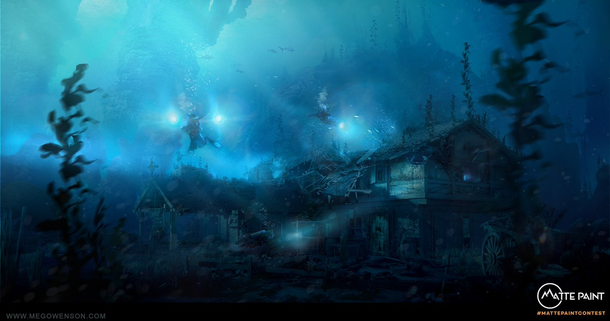 Here is my entry into the latest matte paint competition. I'm calling it 'into the depths' #art #illustration #digitalart #illustrator #gamedev #games #artoftheday #artists #videogames #gaming #digitalpainting #characterdesign #instaart #dailyart #concept #mattepaint #dmp #matte