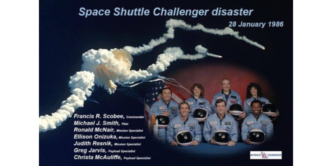 I remember watching this live on tv because a teacher ( Christa McAuliffe ) from my home state of NH was on it. Another moment I will never forget. #Challenger #NASARemembers